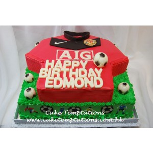 Manchester United 2-tiers Birthday Cake - For Edmond Leung