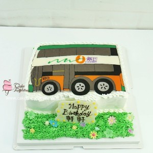 2D Bus Cake - New world first Bus cake