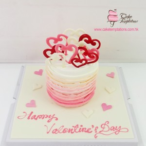Heart to Heart Gradient Cake