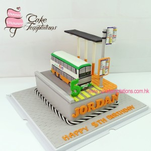 Bus stop cake with First Bus