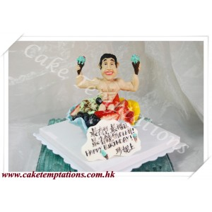 Funny Muscle Man Cake