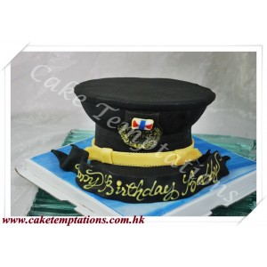 Cathay Pacific Pilot Hat 3D Cake