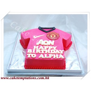 Soccer Shirt-Manchester Unitied Logo with AON