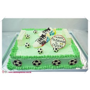 Football field Cake - soccer's boots