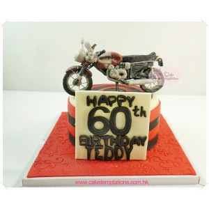 3D motorcycles cake