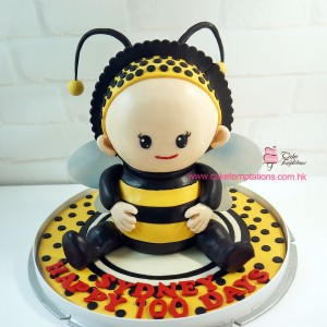 3D baby bumble bee Cake