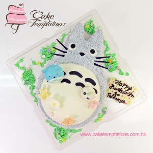 2D small and big Totoro Cake