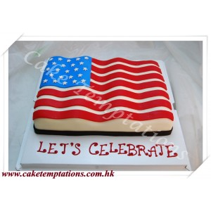 Flag of the United States 2D Cake